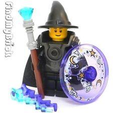 C305 Lego Castle Hero Wizard Minifigure w/ Magic Shield Wand Lighting Force NEW