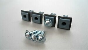4 LICENSE PLATE MOUNTING NUTS AND SCREWS! FITS FORD EDGE MUSTANG C-MAX FOCUS ETC