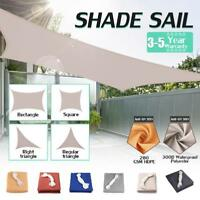 Sun Shade Sail Outdoor Patio Pool Lawn Rectangle/Triangle Cover UV Block Canopy