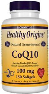 Healthy Origins Natural Isomer CoQ10 100mg Kaneka Q10 150 Softgels - 04/2022