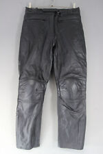 """RAYVEN BLACK LEATHER BIKER TROUSERS WITH CE ARMOUR SIZE 12-WAIST 32/I. LEG 28.5"""""""
