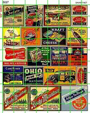 5027 DAVE'S DECALS HO OLD BEER SODA DRUG STORE FARM TRACTOR WALL BUILDING ADS