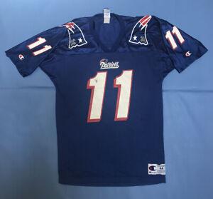 Vintage Champion Drew Bledsoe NFL New England Patriots Jersey Men's Size  44