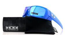 NEW OAKLEY GASCAN X-Ray Blue Prizm Sapphire Iridium Wrap Sunglasses OO 9014-34