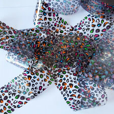 COLORED LEOPARD Clear Nail Art Foil Decoration Wrap Transfer
