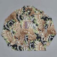 BOB DONG 10th Anniversary Vintage Japan Style Men's Hawaiian Long Sleeve Shirts