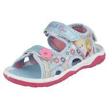 Niña Talla Disney Frozen Anna Elsa Sandalias celeste blanco Playa Verano Zapatos