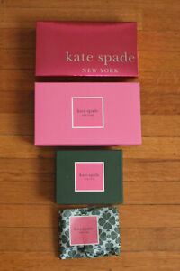 Lot of 3 KATE SPADE Boxes ~ EMPTY for Storage Crafts Display ~ SHIPS FREE
