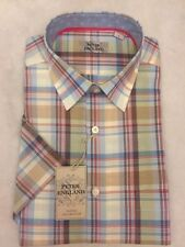 L Short Sleeve Checked Formal Shirts for Men