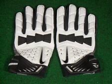New Mens Nike Hyperbeast Padded Impact Lineman Football Gloves White Black 4XL