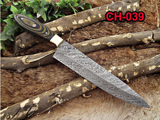 "Damascus Steel kitchen chef Knife 13"" full tang Hand Forged blade, 2 tone wood"