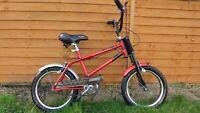 "Vintage Rare Raleigh Strika Retro Children's Bike Red Chopper Bicycle 13"" Retro"