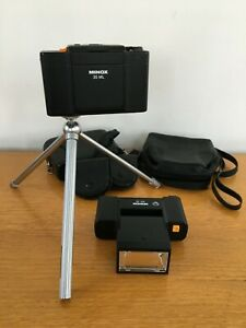 MINOX 35 ML Compact Film Camera w/ MT 35 Flash, Tripod, Orig Cases etc EXC GWO