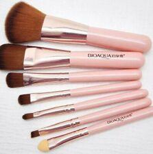 7Pcs Pink Pro Makeup Brush Set Eyeshadow Cosmetic Tools Eye Face Beauty Brushes