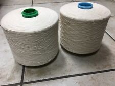 Lot of 8 Spools of Spun 30/2 Carded Cotton Yarn For Weaving Rolls 2.5 lb Each