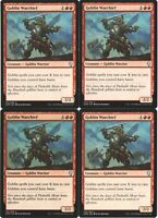 Goblin Warchief playset of 4 Mtg Magic: The Gathering, One of the best goblins