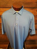 Fennec Mens Xl Extra Large Blue Short Sleeve Golf Polo 3