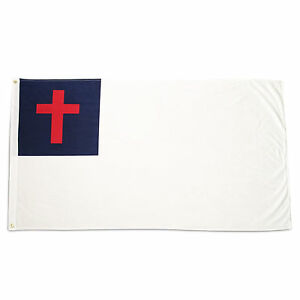 4x6 Christian Flag 4'x6' Super Polyester 150D Large House Banner Grommets