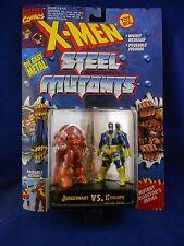 X-Men 1994 Steel Mutants – Juggernaut vs. Cyclops – MIMP – Toy Biz Die Cast