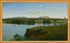 Purrumbete from across the lake Eugene von Guerard See Australien B A2 01723