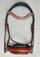Tan London Swedish Leather Horse Tack Bridle with Web reins All Size Free Ship