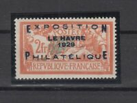 AG4923/ FRANCE – LE HAVRE EXHIB - Y&T # 257A MINT MH CERTIFICATE - CV 1020 $