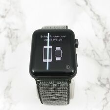 Apple Watch Series 3 42mm Space Gray Aluminium Olive Loop GPS WHITE LINE
