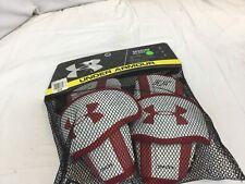 Under Armour Spectre Arm Guard Lacrosse M Sr. Red Nwt $45 Ihh Ygi Eb-E858