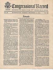 Congressional Record (Senate)-Wash.-Tues. Dec. 15, 1942- future timber shortages