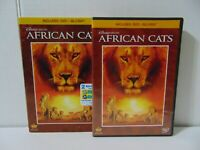 Disneynature: African Cats (Two-Disc Blu-ray/DVD Combo) Lions Cheetah Free Ship