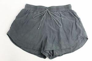 TEWNTY8TWELVE Ladies Grey Elasticated Drawstring Mini Shorts Hot Pants UK8