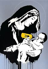 Banksy Baby Poison Metal Wall Sign 380mm x 280mm  (2f)