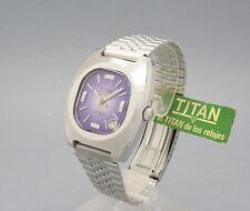 New Old Stock TITAN GENEVE purple dial! AUTOMATIC vintage watch NOS ETA 2783