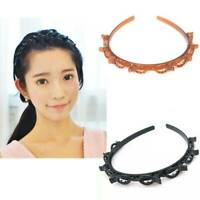 Women Hair Accessories Twist Clip Headband with Toothed Headband Braid Tool