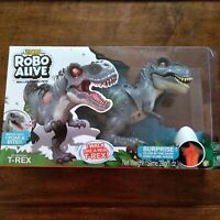 ZURU Brand New Robo Alive T-Rex Robotic Pet with Dino Sounds and Glow Scars