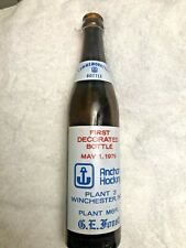 Anchor Hocking Commemorative Bottle Winchester Indiana First Decorated Bottle