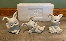 Home Interiors Homco Bunnies Rabbits Figurines x 3 Bunny - With Packaging 1458