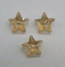 3pc Swarovski Crystal Golden Shadow 12mm Star 5714 Bead; CLEARANCE