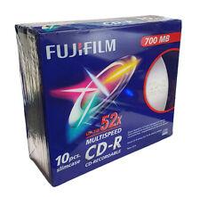 Fujifilm CD-R Blank CDs - 700MB - Upto 52x Speed - Slimline Case - 10 Pack