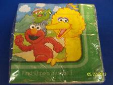 RARE Sesame Street Sunny Days Green Kids Birthday Party Paper Luncheon Napkins