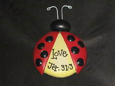 Decorative Refrigerator Magnets Ladybug Love Jeremiah 31:3 Religious NEW!