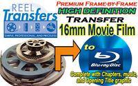 High Definition transfer of 16mm film to Blu-Ray (professional frame-by-frame)