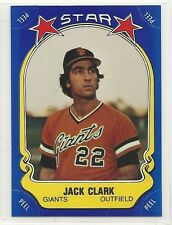 1981 Fleer Baseball Star Sticker - #52 - Jack Clark - San Francisco Giants