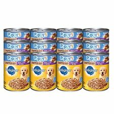 PEDIGREE Meaty Ground Dinner Puppy Complete Lamb and Rice Canned Dog Food