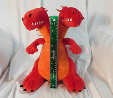 """New 15"""" Red Two-Headed Dragon Plush Pillow Soft Pillowfort Gold Wings Kids Decor"""