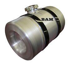 Spun Aluminum Gas Tank  - 3 Gallon - Baffle & Vent Tube - Motorcycle Auxiliary