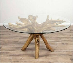 Solid teak Root dining table
