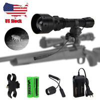 Night Vision 5W 850nm LED Infrared IR Flashlight Gun Torch Pig Fog W//Scope Mount