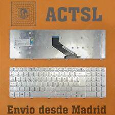 TECLADO ESPAÑOL para PACKARD BELL easynote ts44-hr-250sp Pk130hq3b18 Silver Fram