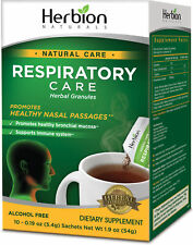 Alcohol Free Respiratory Care Herbal Granules by Herbion, 10 packets